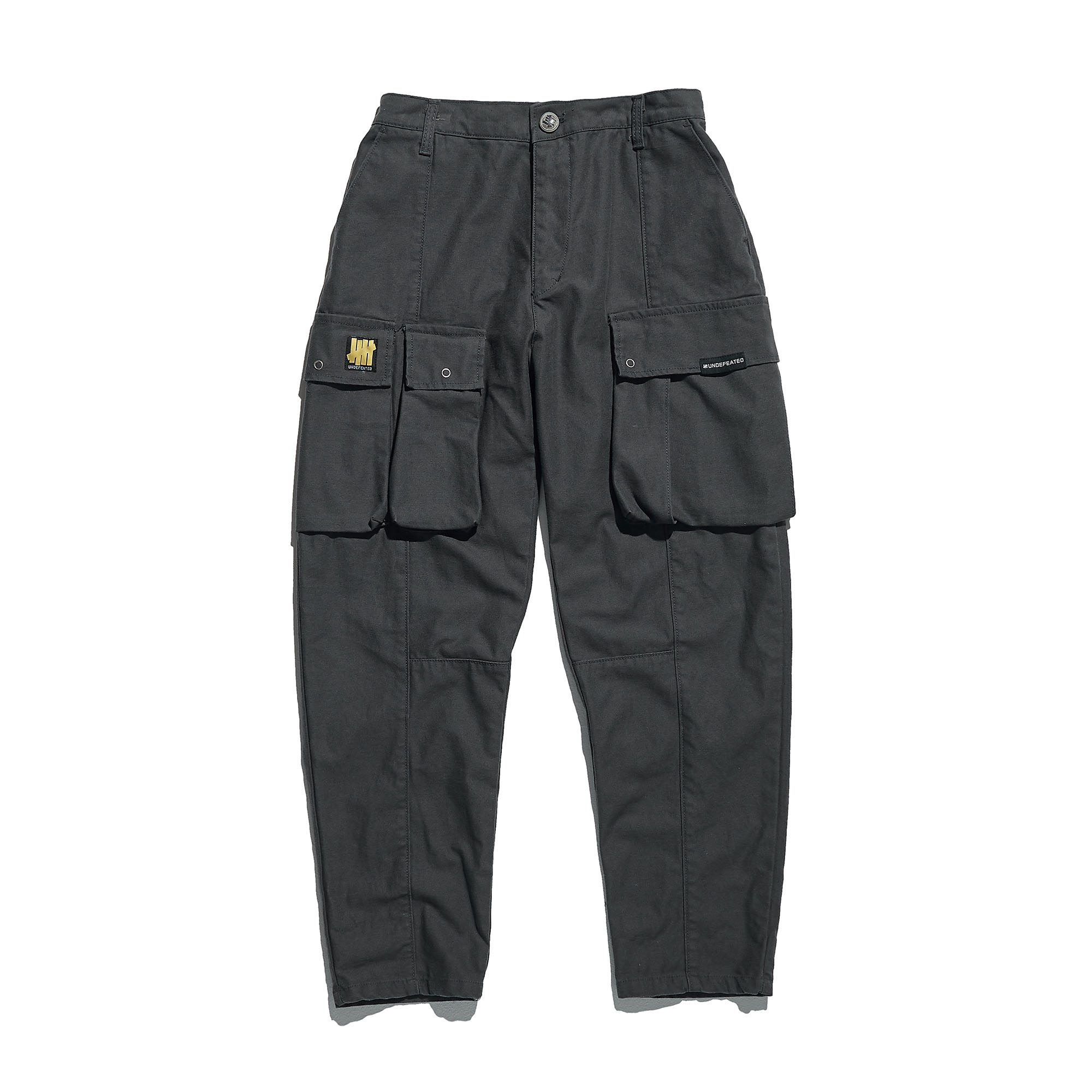 TAPERED CARGO PANTS charcoal