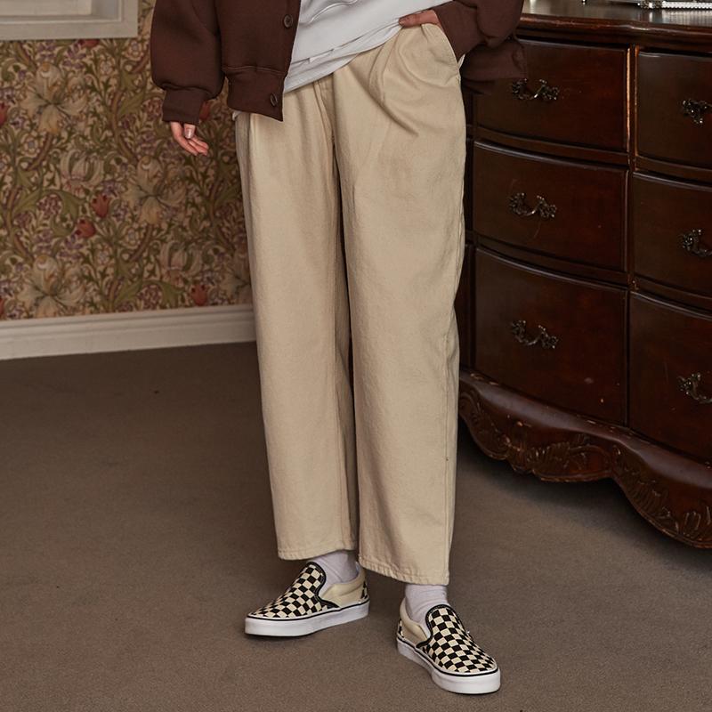 [unisex] pintuck pants (ivory)