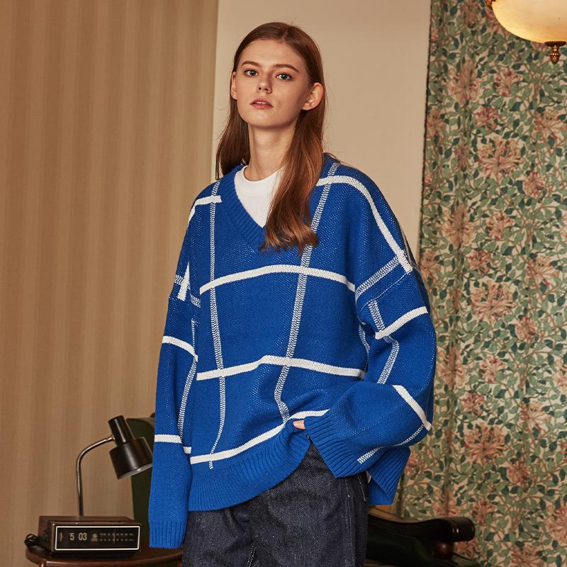 [단독]v knit (blue)