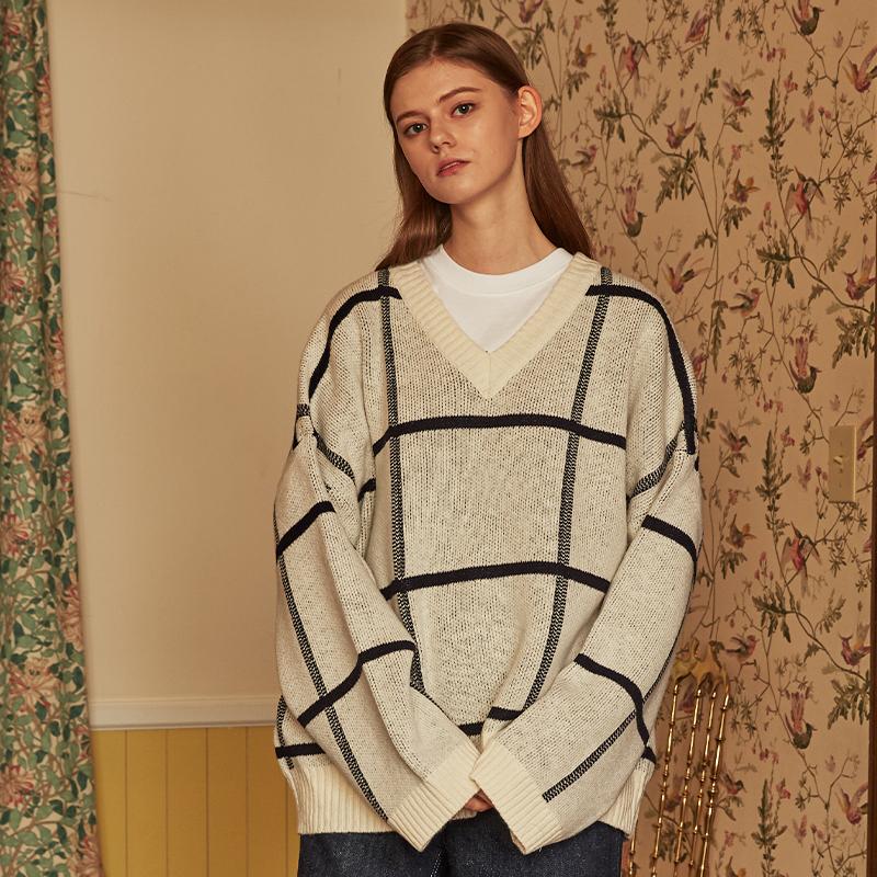 [단독]v knit (white)