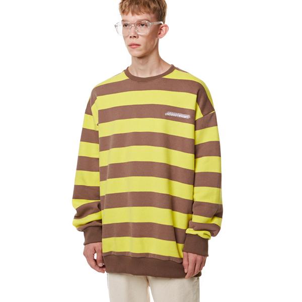 [입점특가]Unisex Striped Sweatshirt BROWN