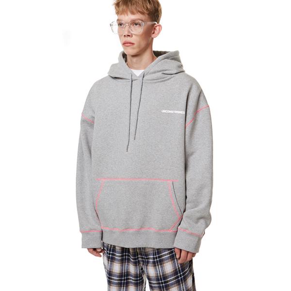 [입점특가]Unisex Stitch Oversize Hood GRAY