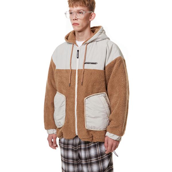 [입점특가]Heavy Fleece Hood Zip-up BROWN