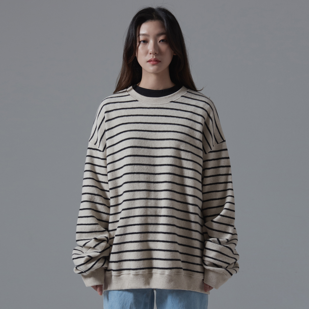 OSD BASIC STRIPE KNIT(IVORY)