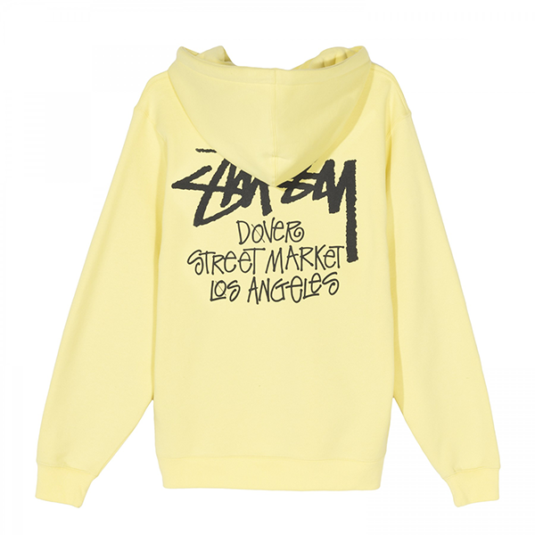[해외]19FW 스투시 도버스트릿 LA 후드 티셔츠 레몬