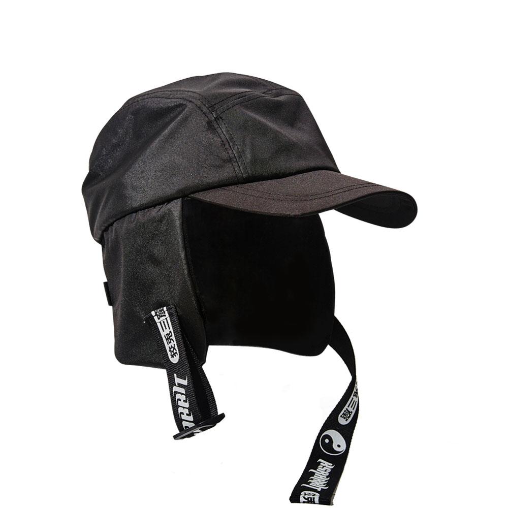 BSR EARFLAP CAP BLACK