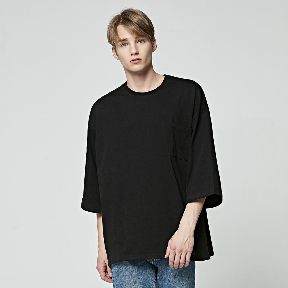 [앨빈클로]AVT298 무지 포켓 오버핏 9부 티셔츠
