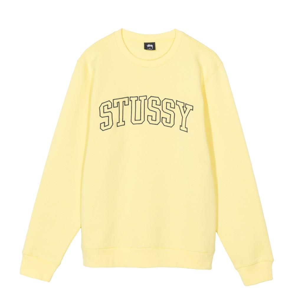 [해외]스투시 아웃라인 로고 맨투맨 레몬