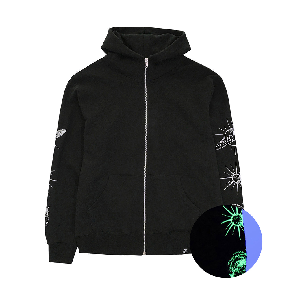 [입점특가][AOX] Space hoodie zip-up (Black)