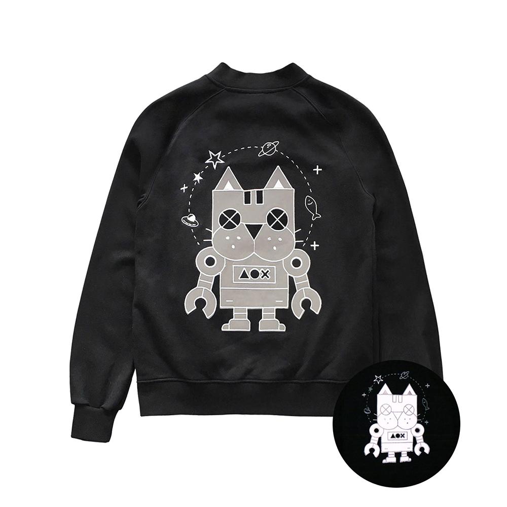 [AOX] Cat robot bomber jacket