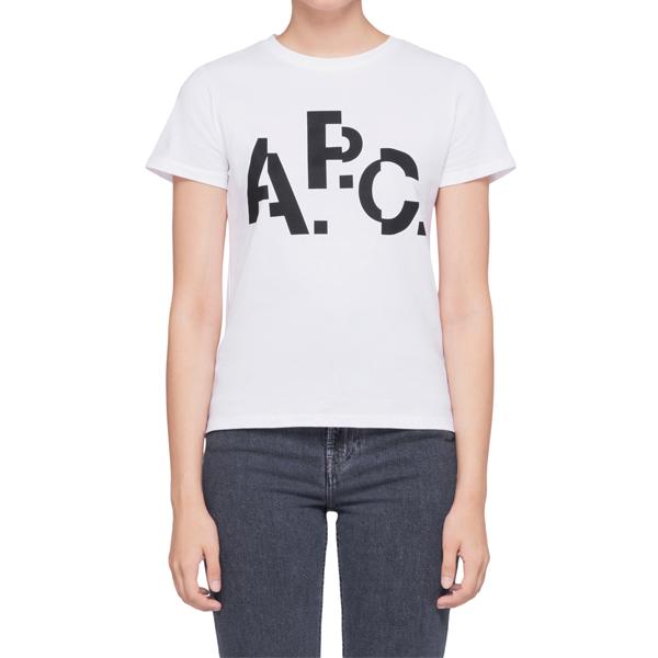 [해외]APC 아페쎄 WOMEN DECALE F 반팔티셔츠 CODCS-F26830