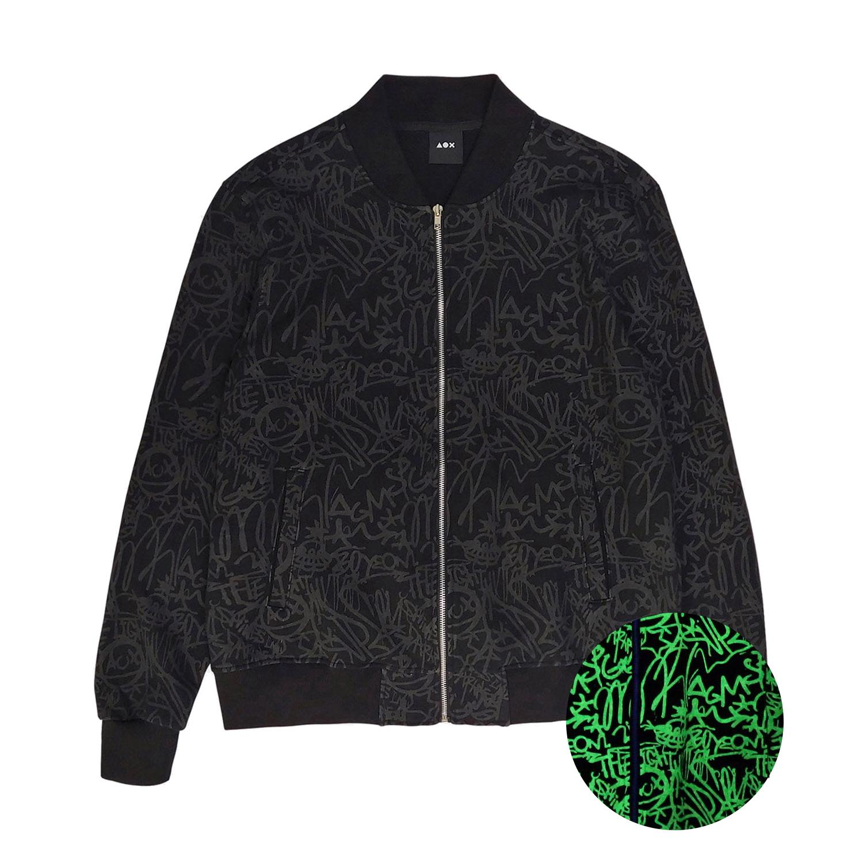 [AOX] Graffiti bomber jacket