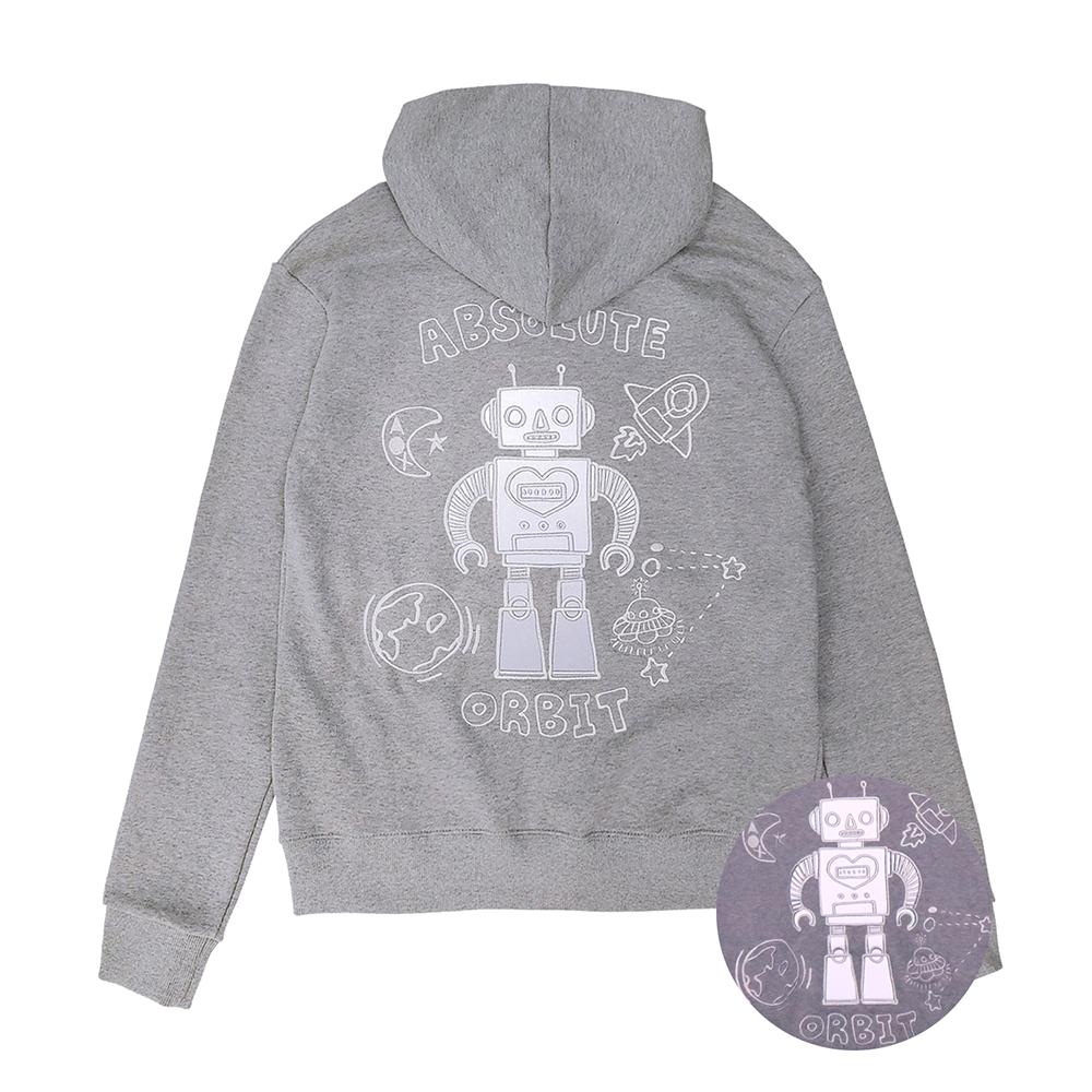 [입점특가][AOX] Robot hoodie zip-up (Gray)