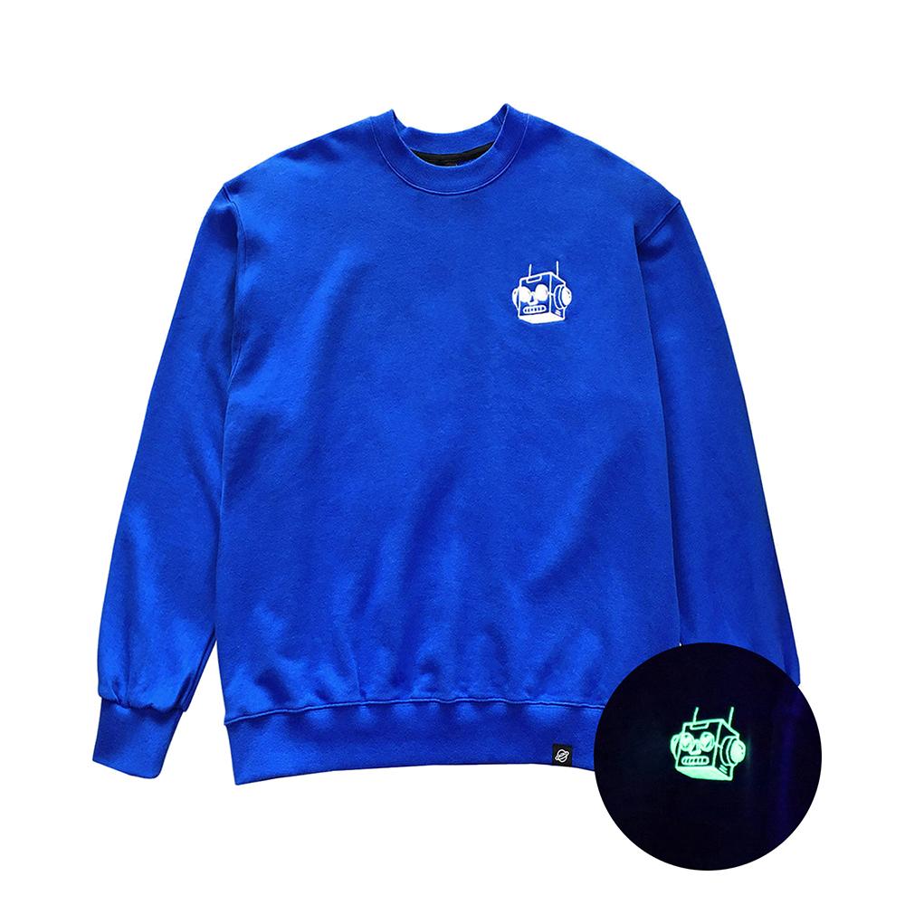 [입점특가][AOX] Heart robot sweatshirt (Blue)