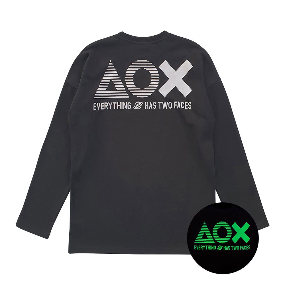 [AOX] AOX Big logo LS tshirt (Black)