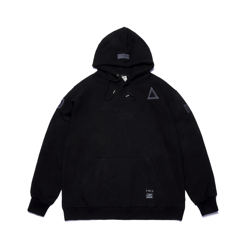 [시즌오프]STIGMA STGM PATCH OVERSIZED HEAVY SWEAT HOODIE BLACK