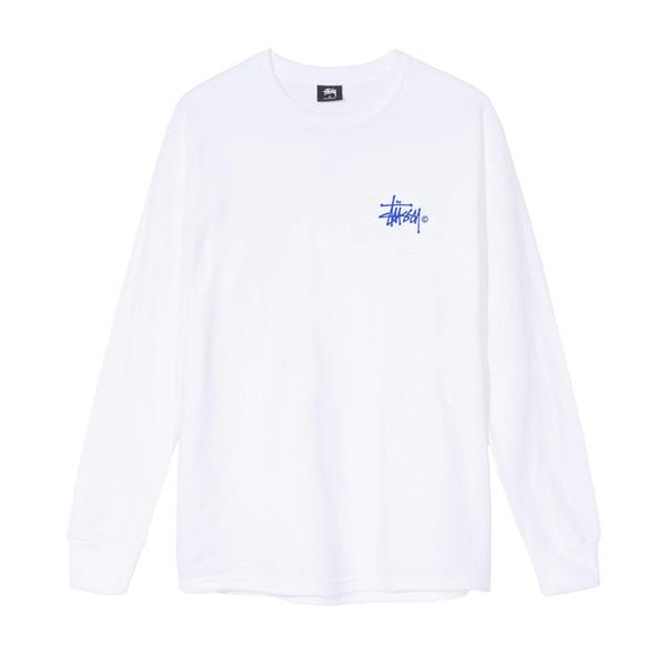 [해외]스투시 우먼스 베이직 로고 롱슬리브 티셔츠 화이트