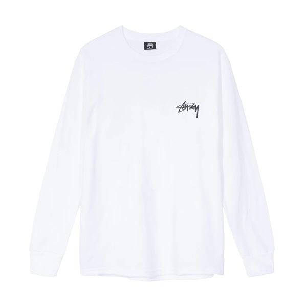 [해외]스투시 라운지 롱슬리브 티셔츠 화이트