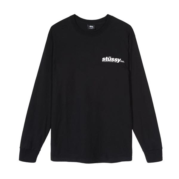 [해외]스투시 이탤릭 롱슬리브 티셔츠 블랙