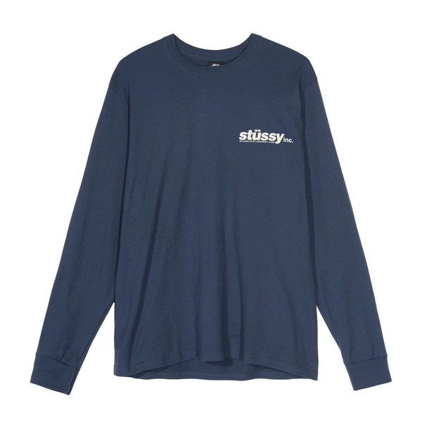 [해외]스투시 이탤릭 롱슬리브 티셔츠 네이비