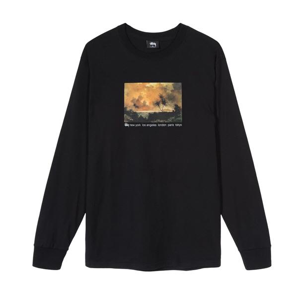 [해외]스투시 레드 스카이 롱슬리브 티셔츠 블랙