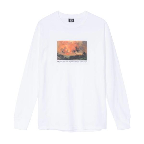 [해외]스투시 레드 스카이 롱슬리브 티셔츠 화이트