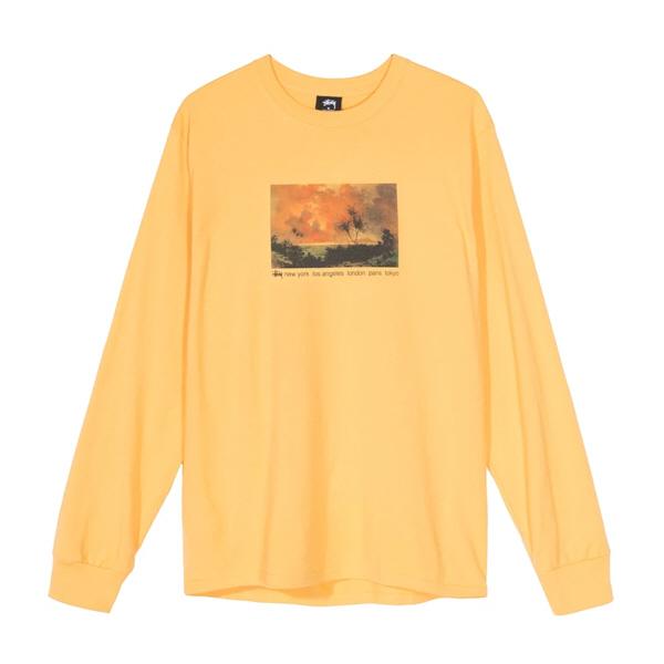 [해외]스투시 레드 스카이 롱슬리브 티셔츠 오렌지