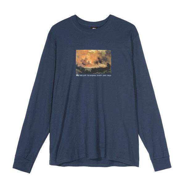 [해외]스투시 레드 스카이 롱슬리브 티셔츠 네이비