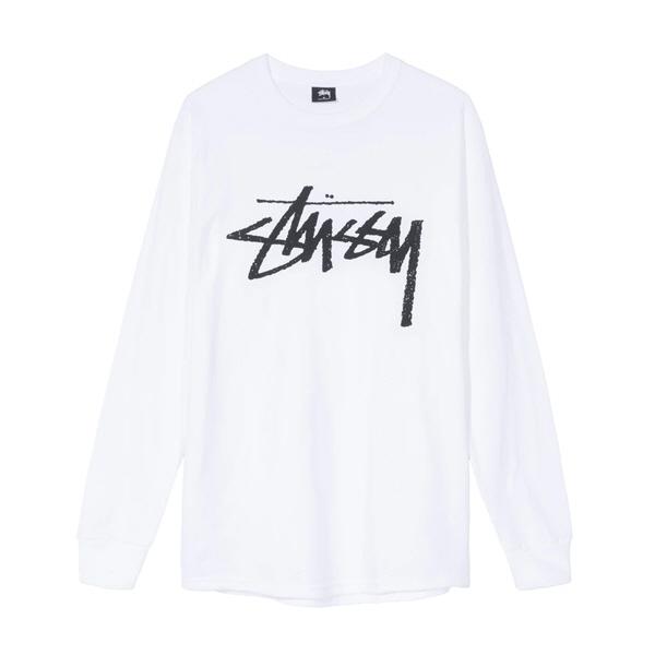 [해외]스투시 스톡 롱슬리브 티셔츠 화이트