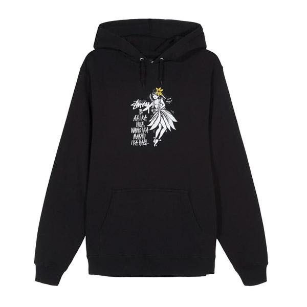 [해외]스투시 대어 투 댄스 후드 티셔츠 블랙