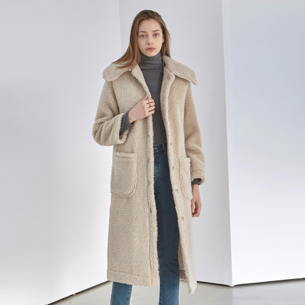 DUMBLE FLAT LONG COAT_BEIGE
