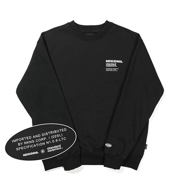 [기모] SPEC LOGO SWEAT SHIRT / BLACK