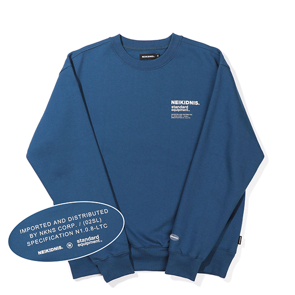 [기모] SPEC LOGO SWEAT SHIRT / INDIGO