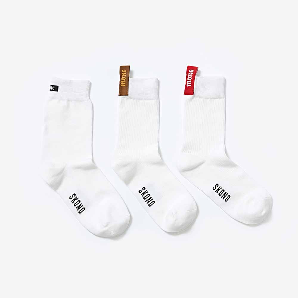 [스코노] MORO LABEL SOCKS 3color
