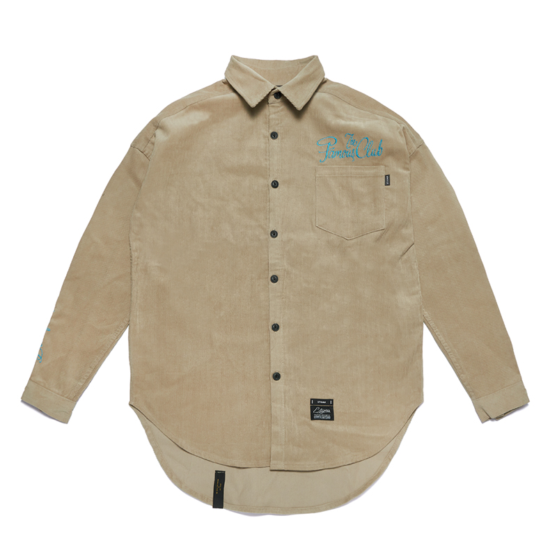STIGMA HANDWRITING OVERSIZED CORDUROY SHIRTS BEIGE