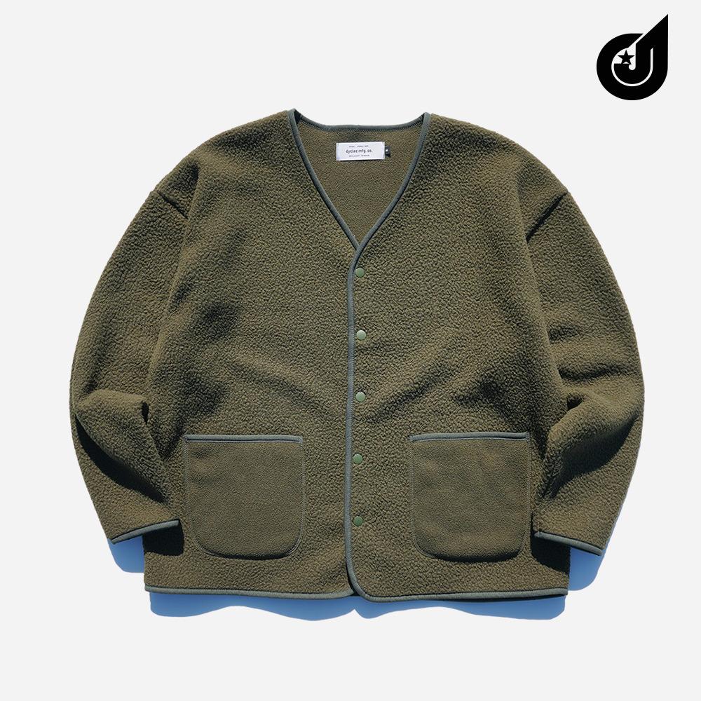 [기획특가][다이클레즈] 부클 오버핏 가디건 카키 YSOT5124