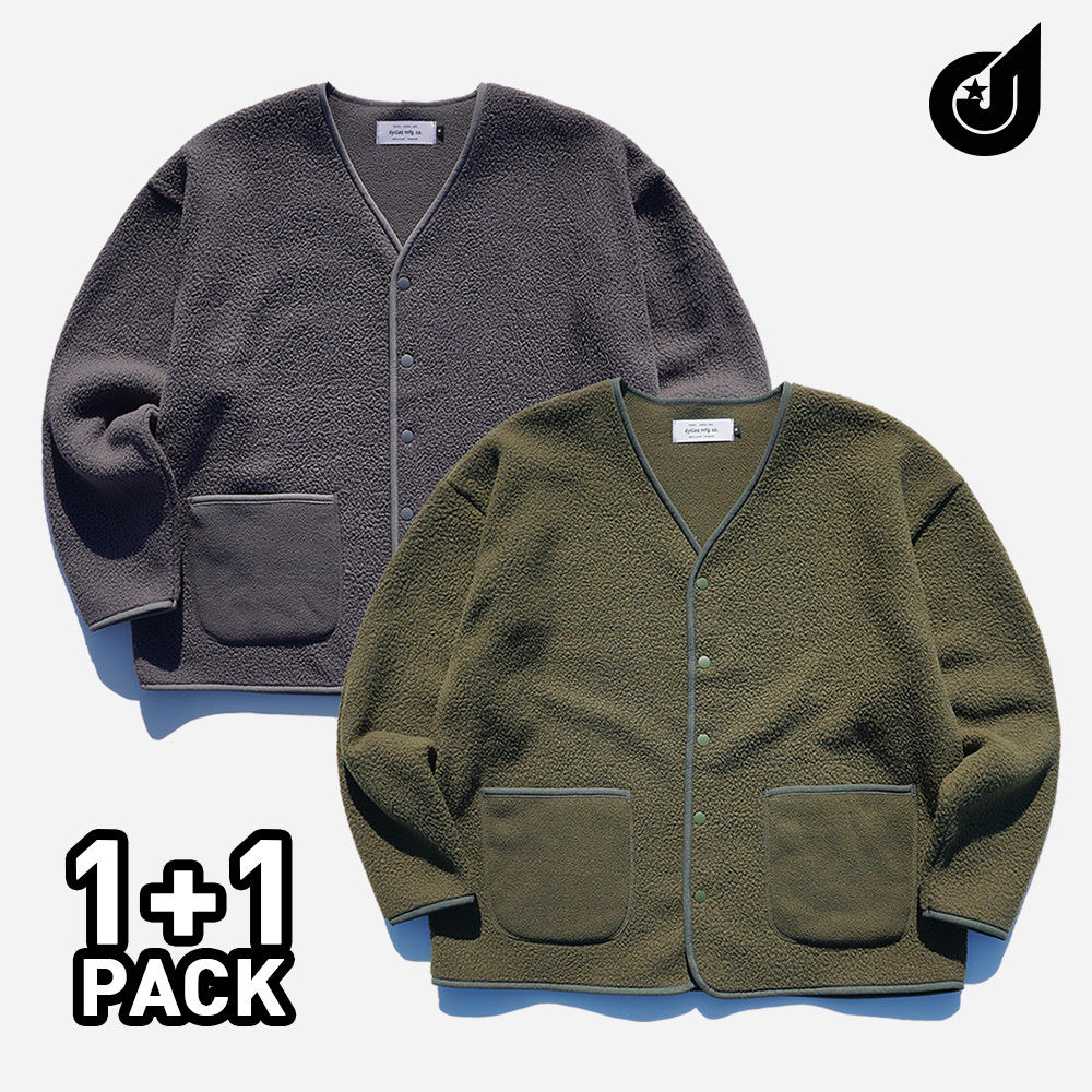 [기획특가][다이클레즈] 부클 오버핏 가디건 2pack YSOT5124