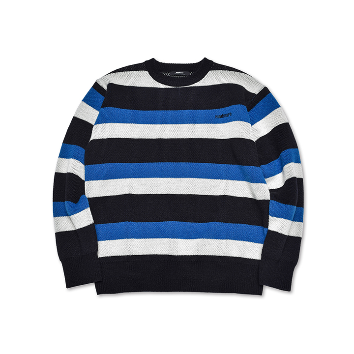TRIPLE STRIPE KNIT_BLUE