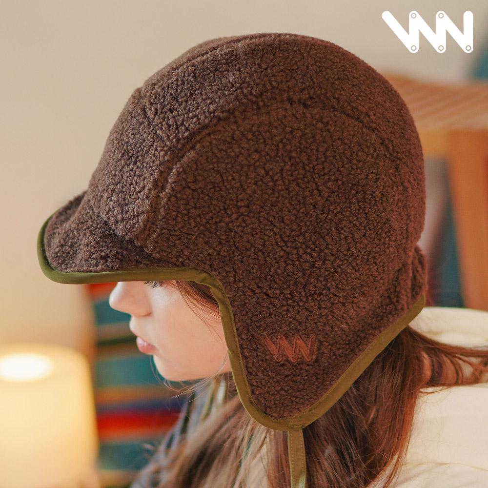 [더블유브이프로젝트] 에이비 리버시블 양털 모자 브라운카키 CJAC7346