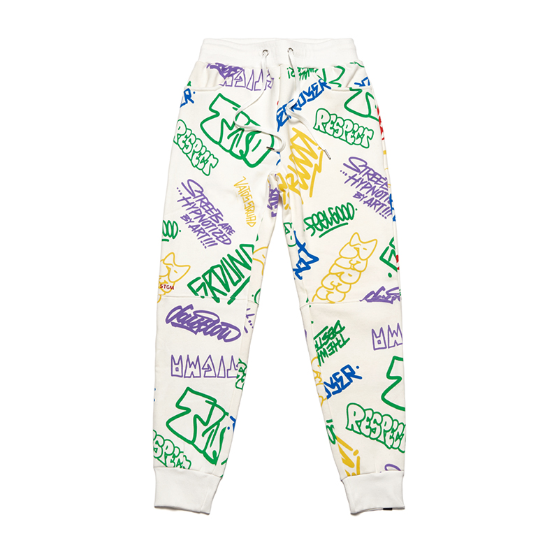 [시즌오프]STIGMA PAINTING HEAVY SWEAT JOGGER PANTS WHITE MULTI