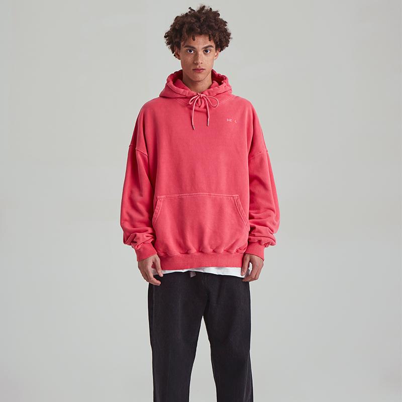 [unisex] tie-dye hoody (coral pink)