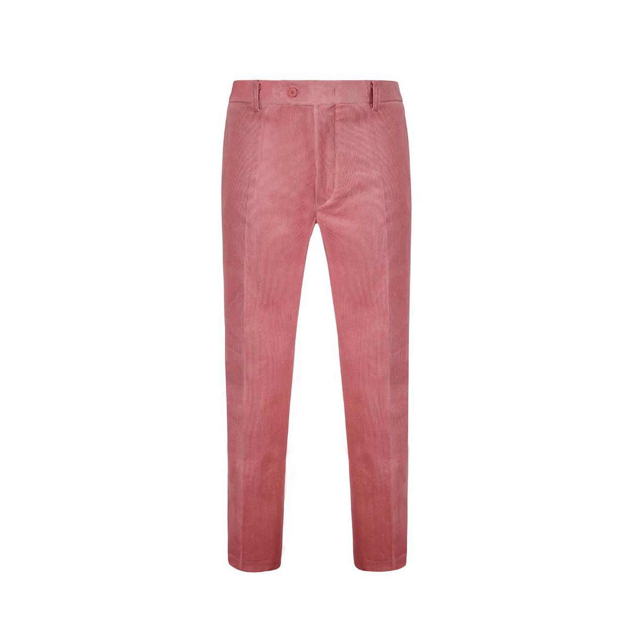 Corduroy Span Slim Fit Pants PINK