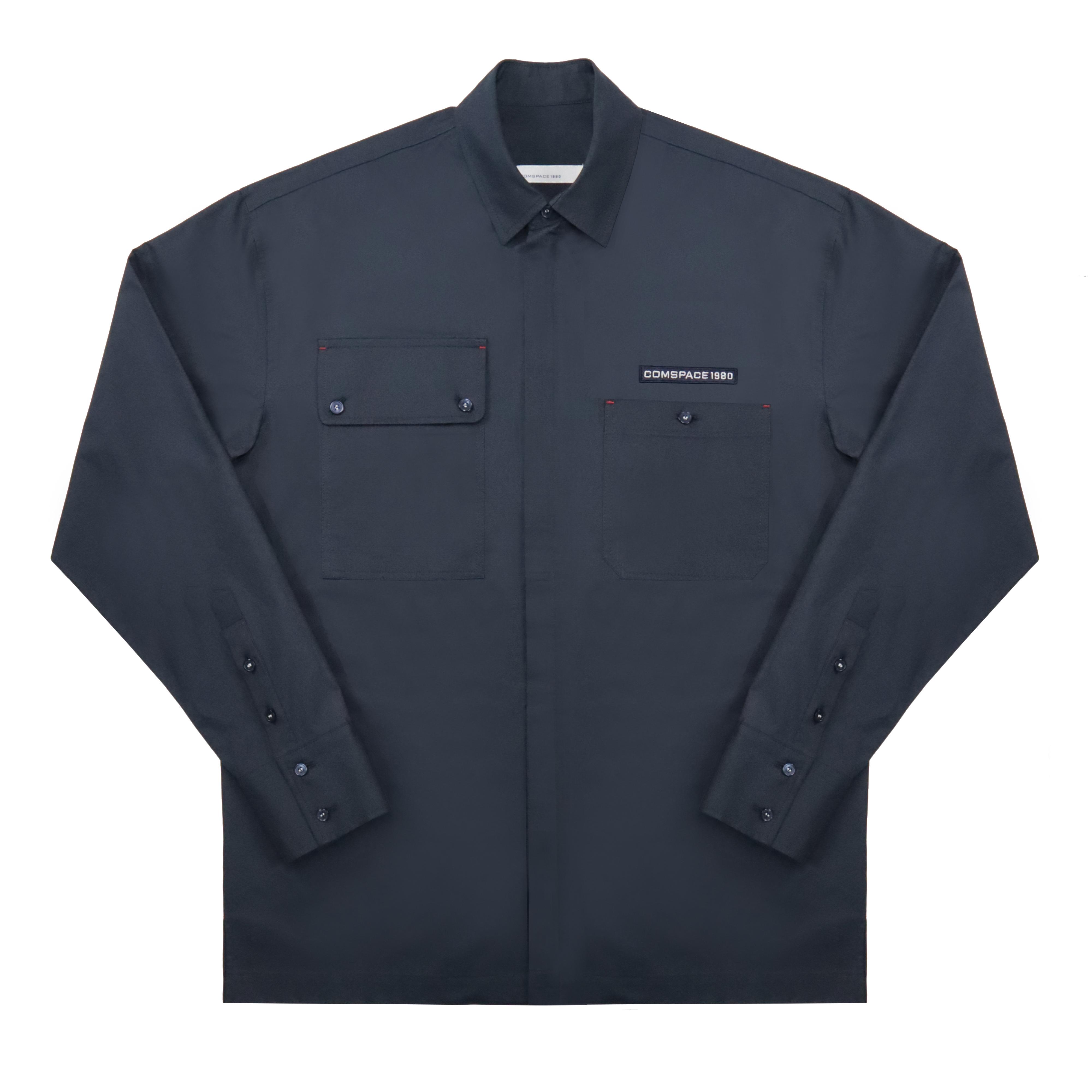 투웨이 지퍼 포인트 셔츠 네이비