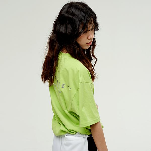 호일 로고 티셔츠 LIME