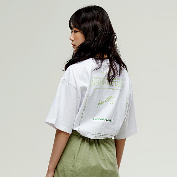 그라디에이션 로고 티셔츠 WHITE