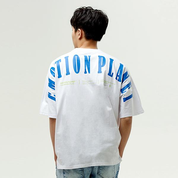 숄더로고 오버 티셔츠 WHITE