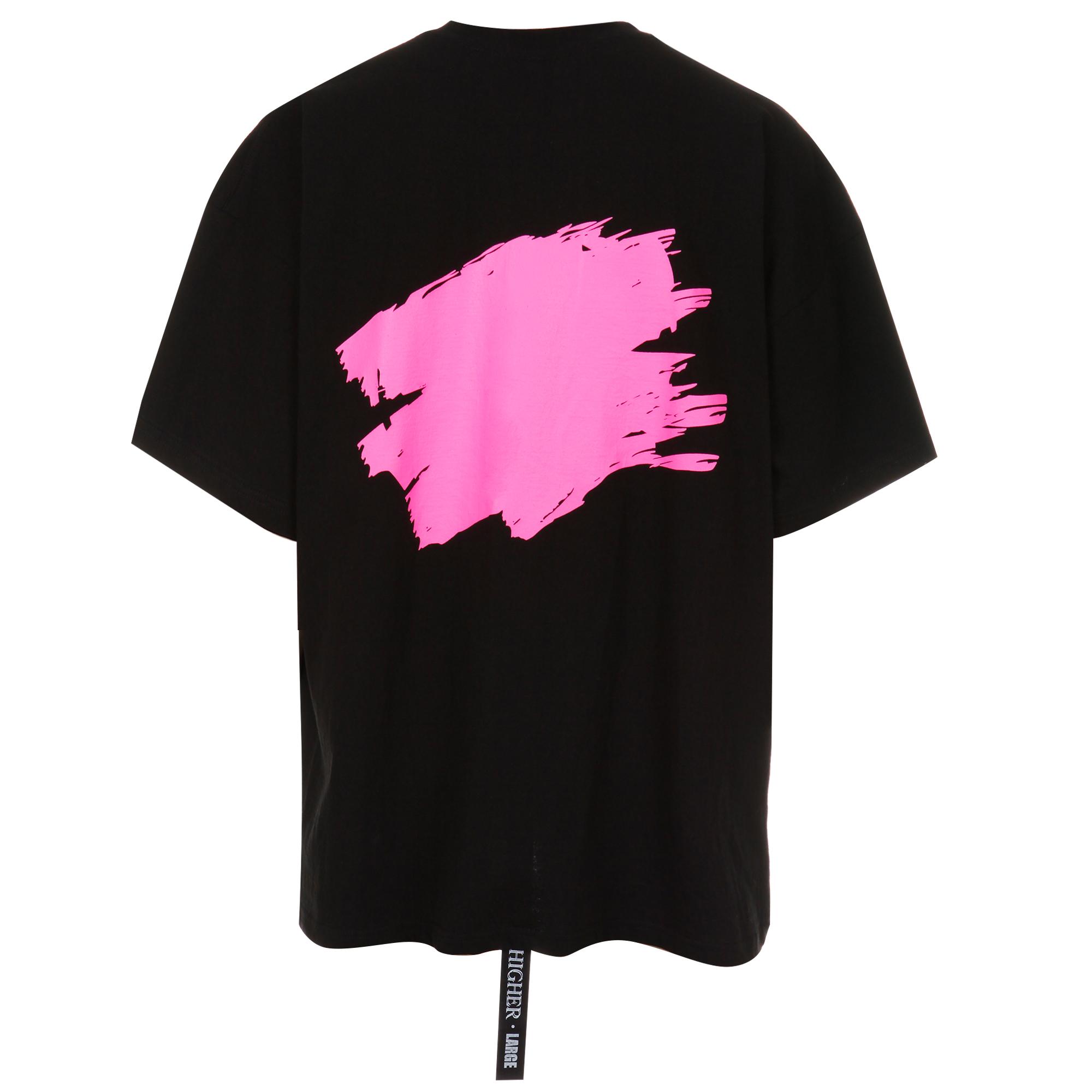 하이어 페인팅 티셔츠 / 핑크