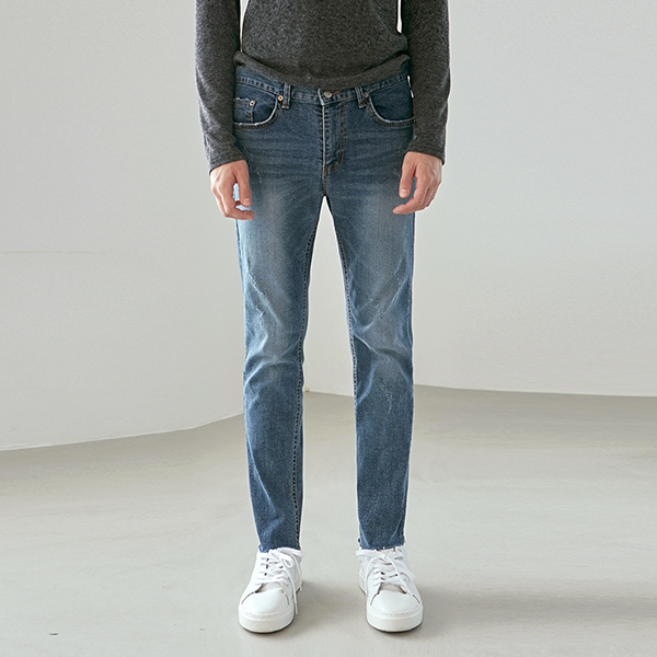 HIGH LIGHT SLIM STRAIGHT JEAN_DENIM