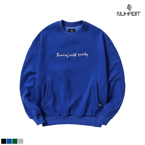 뉴해빗 - embroidery sidezipper pocket sweatshirts
