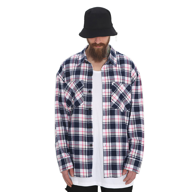 [단독벨트증정] ROCKPSYCHO(V) overfit check shirt / 락사이코(V) 오버핏 체크셔츠